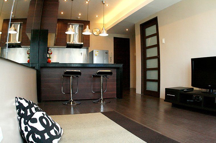 Bar stools for the kitchen of 1 BR Unit at Seibu Tower Condominium, BGC