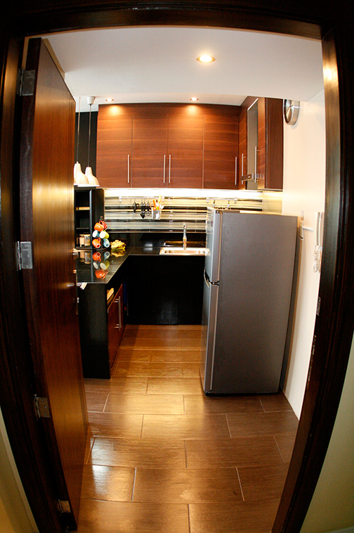 Fully furnished and finished kitchen with utensils at Seibu Tower Condominium