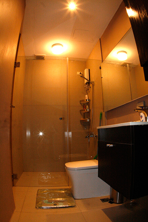 Brand new 1 BR Unit with glass shower door and enclosure